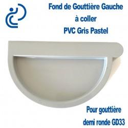 FOND DE GOUTTIERE GAUCHE EN PVC GRIS PASTEL POUR GD33