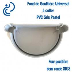 FOND DE GOUTTIERE UNIVERSEL EN PVC GRIS PASTEL POUR GD33