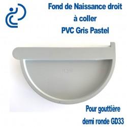 FOND DE NAISSANCE DROIT EN PVC GRIS PASTEL POUR GD33