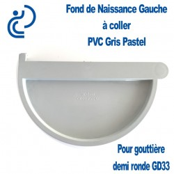 FOND DE NAISSANCE GAUCHE EN PVC GRIS PASTEL POUR GD33