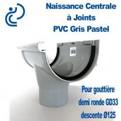 NAISSANCE CENTRALE A JOINTS EN PVC GRIS PASTEL POUR GD33 & Descente Ø125