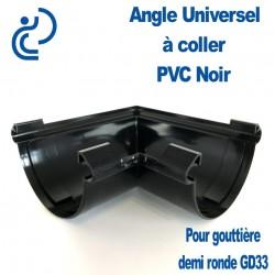 Angle Universel en PVC Noir à Coller pour GD33