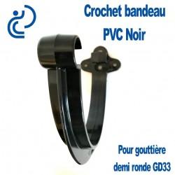 Crochet bandeau PVC noir pour gouttière GD33