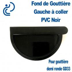 FOND DE GOUTTIERE GAUCHE EN PVC NOIR POUR GD33