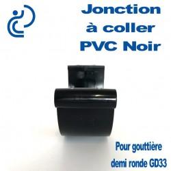 JONCTION PVC NOIR A COLLER POUR GOUTTIERE GD33