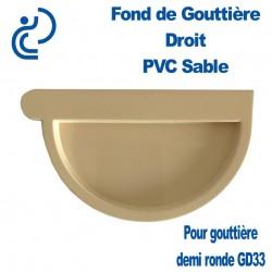 FOND DE GOUTTIERE DROIT EN PVC SABLE POUR GD33