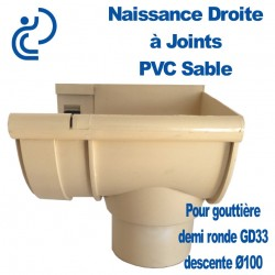 NAISSANCE DROITE A JOINT EN PVC SABLE POUR GD33