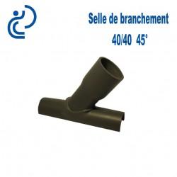 Selle de Branchement 40x40 à 45° PVC à coller