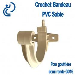 Crochet bandeau PVC Sable pour gouttière GD16
