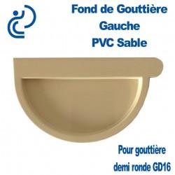 Fond de Gouttière Gauche en PVC sable à Coller pour GD16