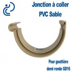Jonction PVC à coller ton sable pour gouttière GD16