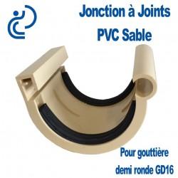 Jonction PVC sable à joint pour gouttière GD16