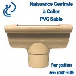 Naissance centrale à coller en PVC sable pour GD16