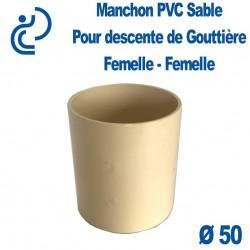Manchon de gouttière PVC Sable FF D50