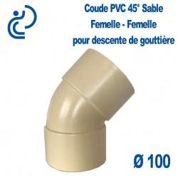COUDE GOUTTIERE PVC SABLE 45° FF D100