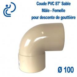 Coude gouttière PVC Sable 87° MF D100