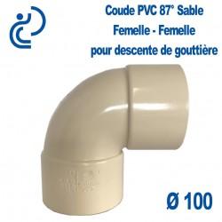 COUDE GOUTTIERE PVC SABLE 87° FF D100