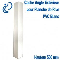 CACHE ANGLE EXT BLANC pour planche de rive