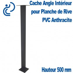 CACHE ANGLE INT ANTHRACITE H500 pour planche de rive