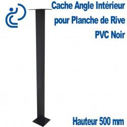 CACHE ANGLE INT NOIR H500 pour planche de rive