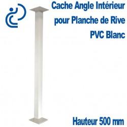 CACHE ANGLE INT BLANC H500 pour planche de rive