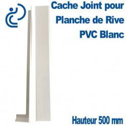 CACHE JOINT BLANC hauteur 500 pour planche de rive