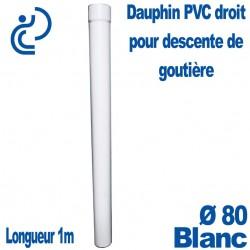 Dauphin PVC Droit Blanc D80 1ml