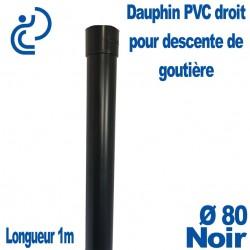 Dauphin PVC Droit Noir D80 1ml