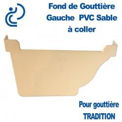 FOND DE GOUTTIERE GAUCHE A COLLER EN PVC SABLE POUR GOUTTIERE TRADITION