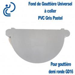 FOND DE GOUTTIERE UNIVERSEL EN PVC GRIS PASTEL POUR GD16