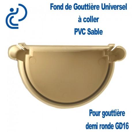 FOND DE GOUTTIERE UNIVERSEL EN PVC SABLE POUR GD16