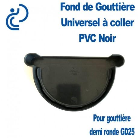 FOND DE GOUTTIERE UNIVERSEL EN PVC NOIR POUR GD25