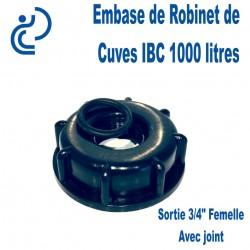 """Embase d'adaptation pour Robinet de Cuve 3/4"""" avec joint"""