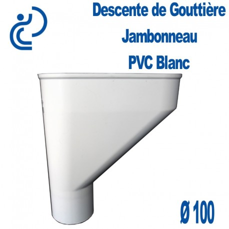 Jambonneau PVC blanc D100