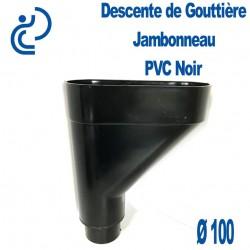 Jambonneau PVC noir D100