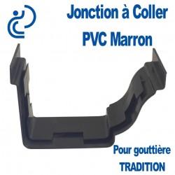 JONCTION A COLLER EN PVC MARRON POUR GOUTTIERE TRADITION