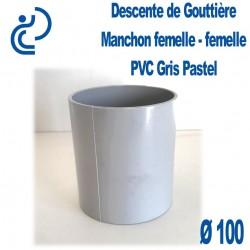 MANCHON GOUTTIERE PVC GRIS PASTEL FF D100