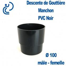 MANCHON GOUTTIERE PVC d100 noir Male Femelle