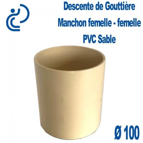 Manchon de gouttière PVC Sable FF D100