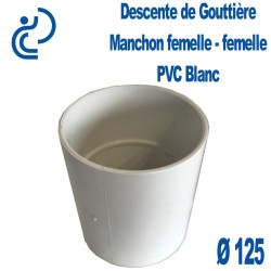 MANCHON GOUTTIERE PVC BLANC FF D125