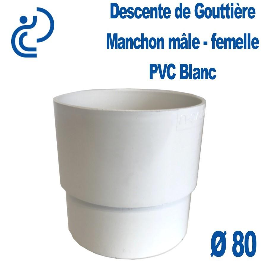 Manchon De Gouttière Pvc Blanc Mf D80