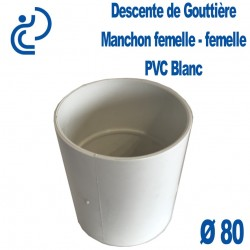MANCHON GOUTTIERE PVC BLANC FF D80