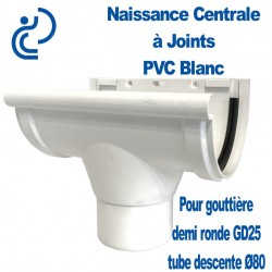 NAISSANCE CENTRALE A JOINTS EN PVC BLANC POUR GD25