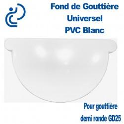 FOND DE GOUTTIERE UNIVERSEL EN PVC BLANC POUR GD25