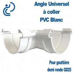 ANGLE UNIVERSEL EN PVC BLANC POUR GD25
