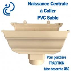 NAISSANCE CENTRALE A COLLER EN PVC SABLE POUR GOUTTIERE TRADITION