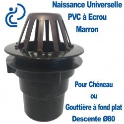 Naissance Universelle PVC à Écrou pour descente Ø80