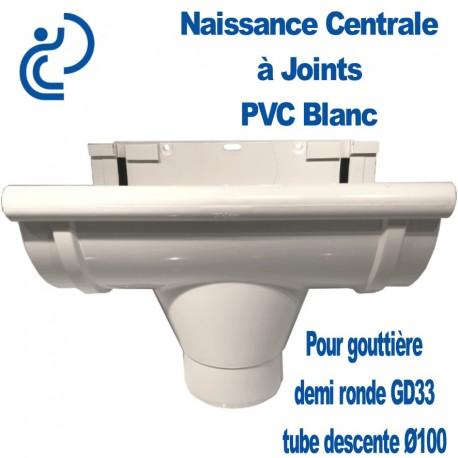 NAISSANCE CENTRALE A JOINTS EN PVC BLANC POUR GD33/D100