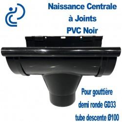 NAISSANCE CENTRALE A JOINTS EN PVC NOIR POUR GD33