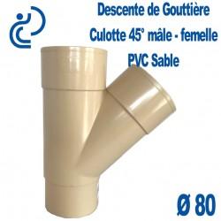 CULOTTE GOUTTIERE PVC SABLE 45° MF D80
